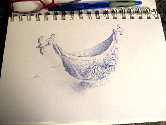 sea serpent dish in pen