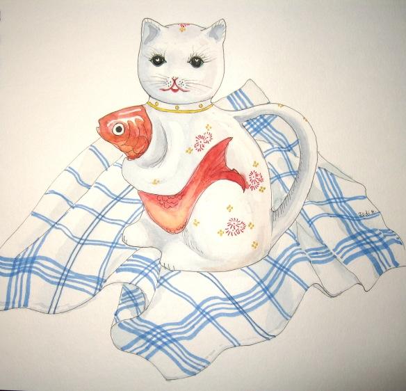 kitty cat teapot 002